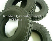 1/14 rc Truck rear Rubber Tyre w/ Insert for Benz Actros TAMIYA man scania  r470
