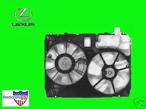 LEXUS RX330 NEW DUAL FAN ASSEMBLY 04 05 06 W/MODULE