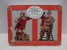 Coca Cola Nostalgia #334 Double Deck Santa Playing Cards/Tin Case/Sleeve 1994!