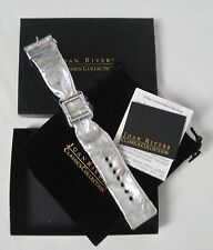 Joan Rivers Classics Watch Silver Metallic Scarf Band Crystal Embellished Soft