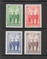 1940 King George VI  SG196 to SG199 A.I.F. & Nurse Set Mint Hinged AUSTRALIA
