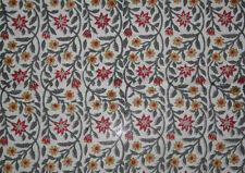 10 Yards Cotton Handmade Block Print Fabric Floral Print Cloth Natural jaipur