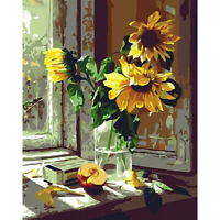 Warm Sunflower DIY Oil Painting Kit Paint By Numbers for Adult Children Beginner