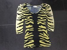 Alice Temperley New & Gen. Ladies Small UK Size 8 Animal Print Long Sleeved Top