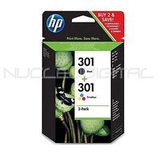 2 cartuchos tinta original HP 301 BK COLOR  HP Deskjet 1050a 2000 2050 J3M81AE
