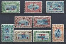 1918 CONGO BELGA/BELGISH CONGO, COB n° 72/80 9 valori  MLH/*