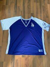 LA Los Angeles Dodgers MLB Majestic CoolBase Baseball T Shirt Sz 3XL 3X-LARGE