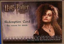 Harry Potter-Helena Bonham Carter-Bellatrix Lestrange-HBP-Autogr Redemption Card
