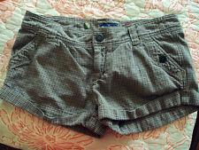 Womens/Juniors AE AMERICAN EAGLE Brown/Blue Plaid Short SHORTS So Cute Mini/Sexy