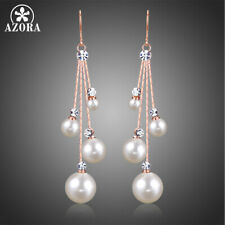 Chain Bridal Long Dangle Hook Azora Women's Crystal Simulated Pearl Four