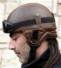 motorcycle bike motorbike helmet goggles vintage black brown old chopper easy