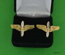 Army Avation Branch Cuff Links in Presentation Gift Box - Wwii Aaf