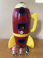 Peppa Pig's Spaceship With Sounds Plus Peppa George & Danny Dog Figures