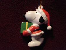 Peanuts Santa Snoopy Vinyl Christmas Ornament United Feature Syndicate, Inc.