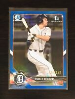 Parker Meadows Blue Refractor /150 2018 Bowman Draft Chrome BDC-28