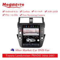"12.1"" Android tesla style Car Player GPS  For Toyota Landcruiser PRADO 2014-2018"