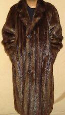 """Men Neiman Marcus 49"""" Long Excellent Condition Beaver Fur Coat Size 40 FREE SHIP"""