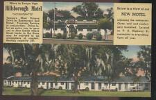 Postcard TAMPA FL Hillsborough Motel 1930's?