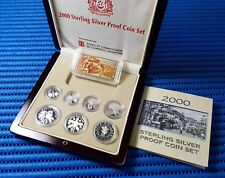 2000 Singapore Sterling Silver Proof Coin Set (1¢ - $5 Coin)