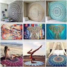 Indian Mandala Tapestry Wall Hanging Hippie Bedspread Throw Yoga Mat Bohemian UK