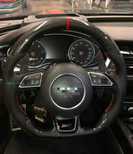 Carbon Fiber/ Leather Steering Wheel For Audi A1 A5 A6 A7 RS5 RS6 RS7