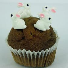 6 x Lapin de Pâques Lapin Plastique Cupcake Décoration gâteau topper