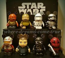 Disney Vinylmation Star Wars The Force Awakens series 2 Set of 8 W/ Leia Chaser