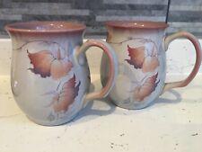 More details for 2 x denby mugs twilight design fine stoneware