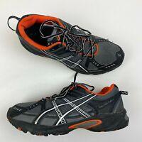ASICS GEL Venture 3 Athletic Running Trail Shoes Grey Orange Mens size 8.5