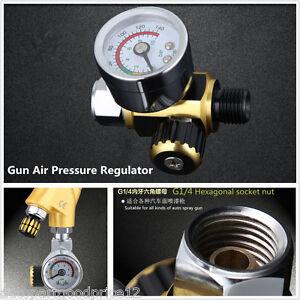 G1/4 Spray Paint Gun Air Pressure Regulator Spray Gun Pressure Gauge 0-0.10 Mpa
