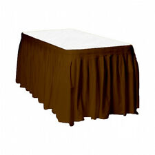 Touch of Color Easy Stick Plastic Table Skirt, 14-Feet, - brown