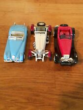 NewRay Job Lot 3 Roadsters Vintage Cars 2 Jaguars, Mercedes Benz SSKL