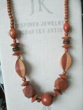 Vintage Chunky Wood Bead Necklace Artsy Lagenlook