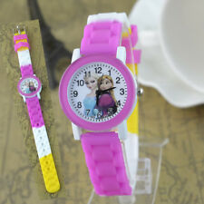 Disney Frozen Elsa & Anna Children Girls Kids Child Quartz Wrist Watch Hot Pink