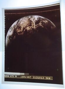 EARTH / Orig 4x5 NASA Issued Transparency - Seen from ATS III Satellite
