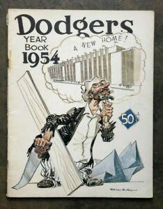 1954 Brooklyn Dodgers Yearbook-Roy Campanella Duke Snider Jackie Robinson