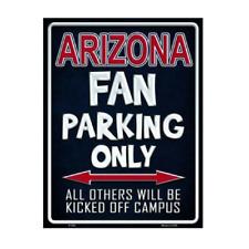University of Arizona Wildcats Fan Parking Only Novelty Metal Parking Sign