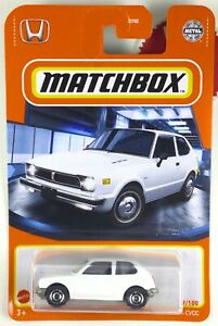 Matchbox 2021 🔥 1976 HONDA CVCC 🔥  New RELEASE WHITE 49/100 Honda Lic Plate