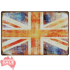 GBR UK Union Jack Novelty Tin Metal Wall Sign for Home Bar Pub or Garage 20x30cm