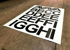 """1"""" 2"""" 3"""" 4"""" 5"""" INCH SELF ADHESIVE VINYL LETTERS AND NUMBERS STICKERS A - Z"""
