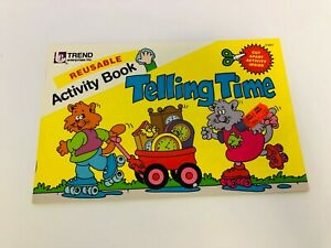 Telling Time Activity Book, Reusable Trend Book, 1985 Trend Enterprises Inc