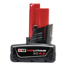 Milwaukee Battery 12 Volt Saw Cordless Tool M12 RED LITHIUM XC 4.0 Fuel Gauge