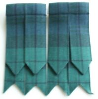 Men's Kilt Flashes Hose Black Watch Tartan Elastic and Velcro to fit all sizes
