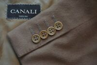 Canali Brown Label Light Brown Cashmere Blend Sport Coat Jacket Sz 44R