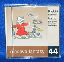 Pfaff Creative Fantasy #44 Country Life Embroidery Card 2140 2170 7560 7570
