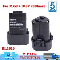 10.8V 3.0Ah For Makita BL1013 LITHIUM Battery BL1014 TD090D DF030D 194550-6 2PCS