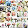 Artificial Silk Fake Flowers Leaf Peony Floral Wedding Bouquet Party Room DZT