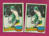 2 X 1980-81 OPC # 206 NORTH STARS MIKE EAVES  ROOKIE EX-MT  CARD (INV# A762)