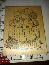 Cat inside hat box, Linda Garrison oh, stamps happen?, Huge, 916,rubber,stamp