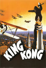 King Kong 24x36 Movie Poster 1933 Vintage-Style Empire State Building Airplanes